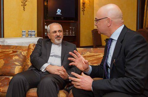 Dieter Bednarz und Mohammed Javad Zarif
