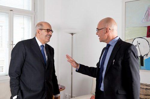 Nobelpreisträger El Baradei und Bednarz